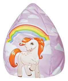 Gouchee Design - Beanbag Unicorn Fauteuil Poire Impression Numérique Licorne XL - Rose