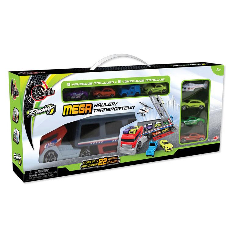 Dragon Wheels - Mega Hauler - Includes 8 Vehicles