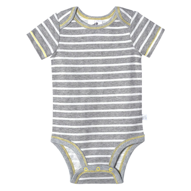Just Born Baby Boys 4-Pack Organic Short Sleeve Onesies Bodysuits - Lil Lion 12 Months