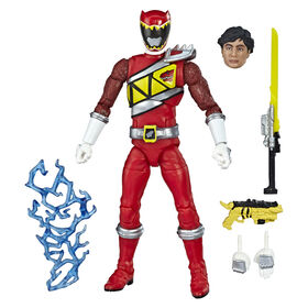 Power Rangers Lightning Collection - Figurine de collection Ranger rouge Dino Charge de 15 cm.