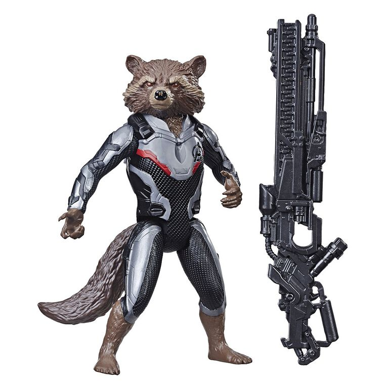 Marvel Avengers: Endgame Titan Hero Series Rocket Raccoon with Titan Hero Power FX Port