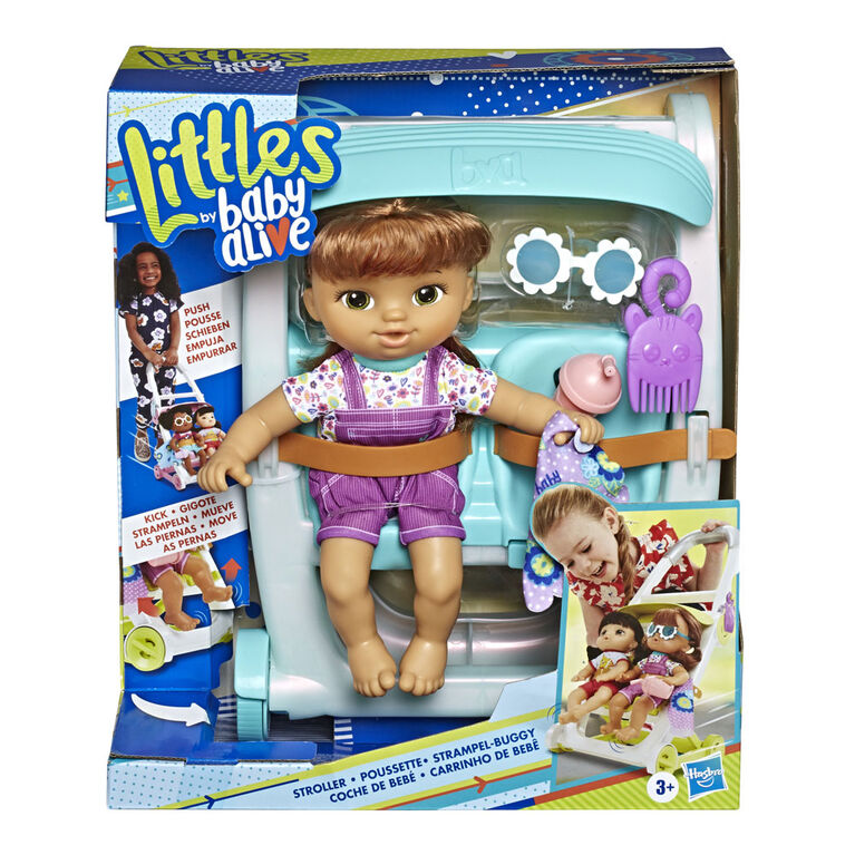 Littles by Baby Alive, Push 'n Kick Stroller, Little Lucy