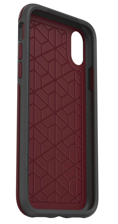 OtterBox Symmetry Case iPhone Xs/X  Fine Port ( Burgundy/Grey)