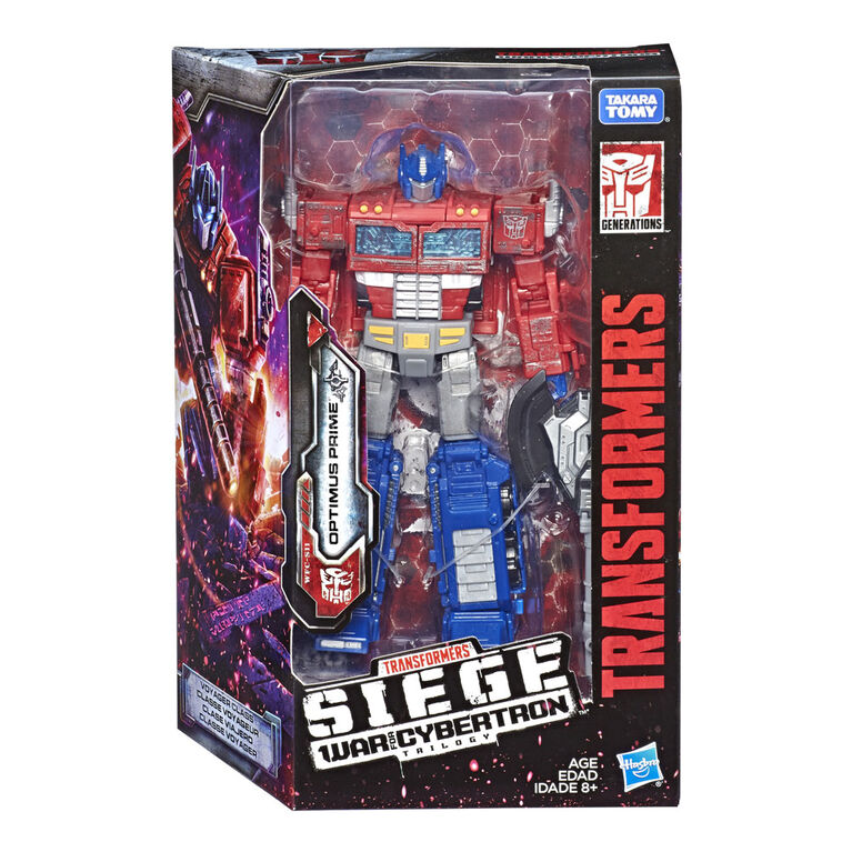 Transformers Generations War for Cybertron: Siege Voyager Class Optimus Prime Action Figure