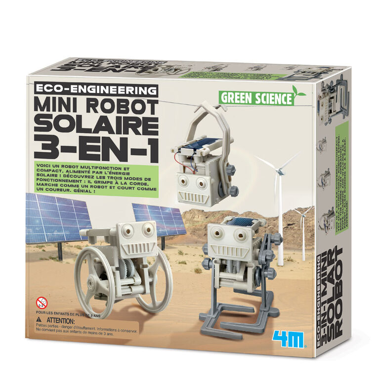 4M 3-In-1 Mini Solar Robot - French Edition