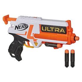Nerf Ultra - Blaster Four, 4 fléchettes Nerf Ultra, tire une fléchette à la fois, compatible uniquement avec les fléchettes Nerf Ultra