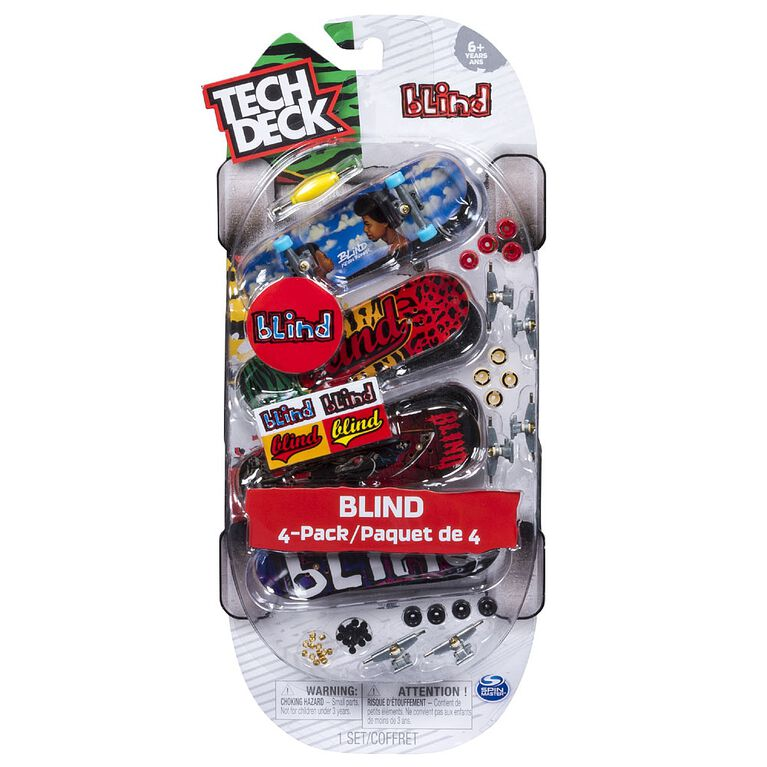 Tech Deck - 96mm Fingerboards - 4-Pack - Blind