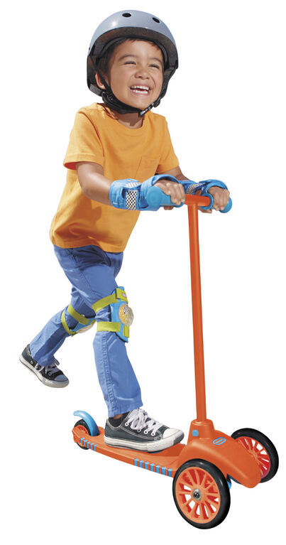 Little Tikes - Lean to Turn Scooter with Removable Handle – Orange/ Blue