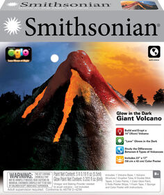Smithsonian Giant Volcano Glow in the Dark