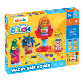 Coffret de pâte à modeler Ready Steady Dough Wacky Hair Dough de Nick Jr - Édition anglaise - Notre exclusivité