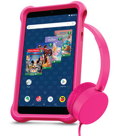 "Disney airBook 7"" Kids Tablet Bundle Powered by Android - Pink"
