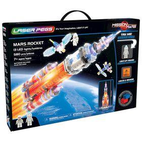 Laser Pegs, Collection Mission sur Mars - Fusée pour Mars 580 pièces.
