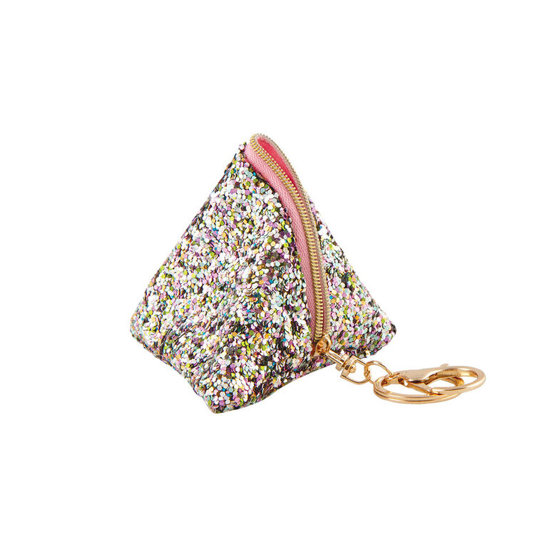 Fashion Angels - Sac pochette triangulaire avec paillettes et pendentif - Blanc