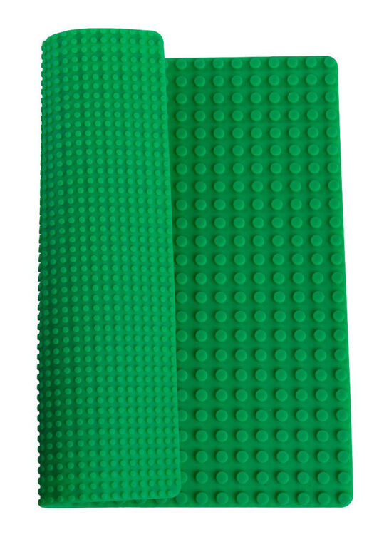 """Strictly Briks - Double Sided Silicone Mat - 15"""" x 15"""" - Compatible with Large and Small Pegs - Green"""