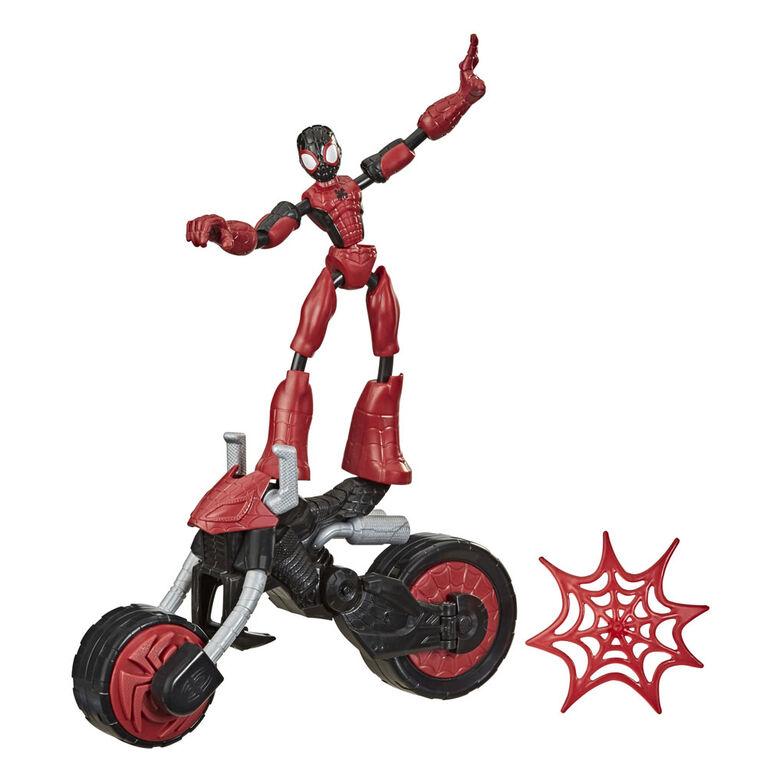 Marvel Bend and Flex, Flex Rider Spider-Man Action Figure Toy