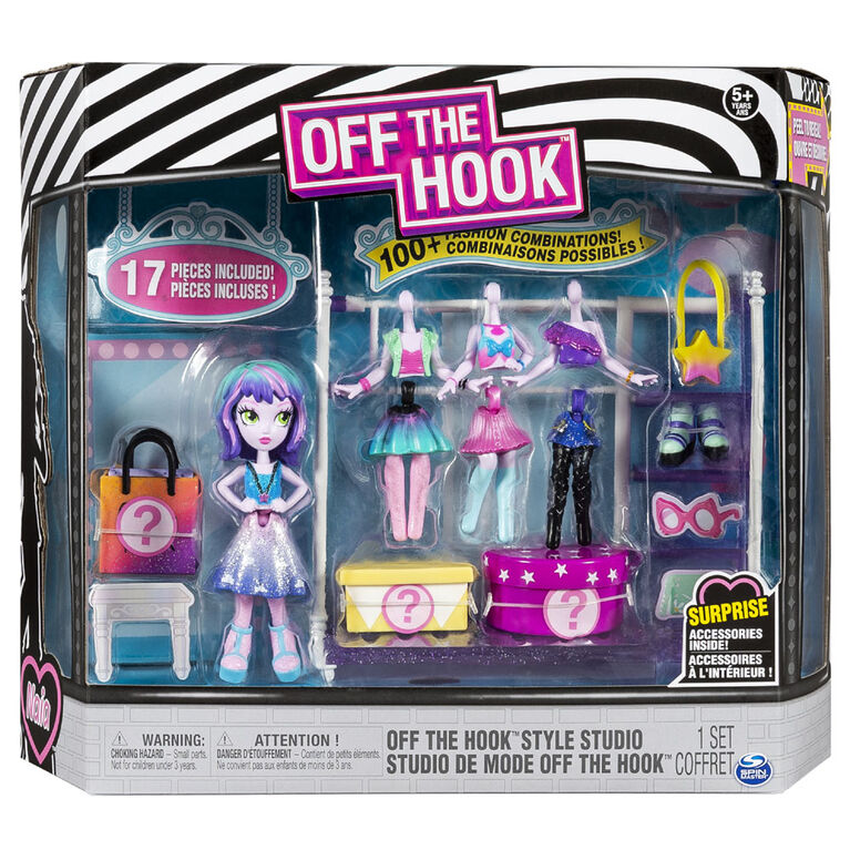 Off The Hook Style Studio, Fashion Fun Playset with 4-inch Small Doll and Fashions and Accessories - R Exclusive