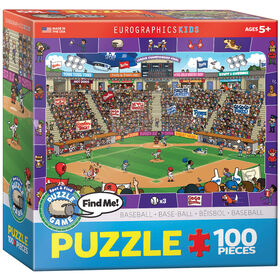 Eurographics Baseball Spot & Find 100 Piece Puzzle
