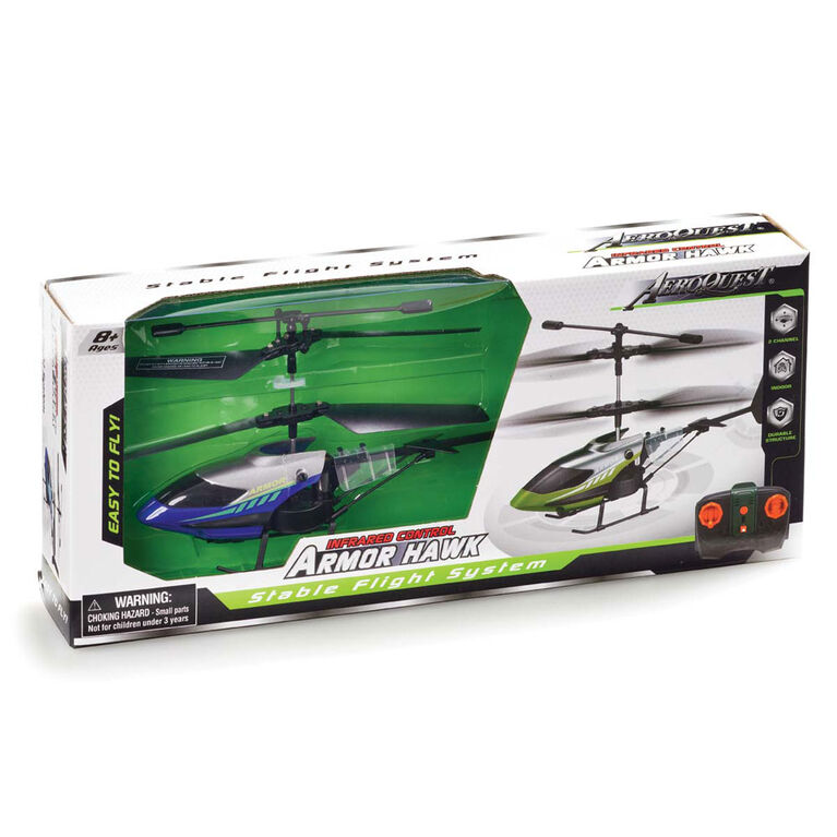 RC Aeroquest Armour Hawk Helicopter Blue - R Exclusive