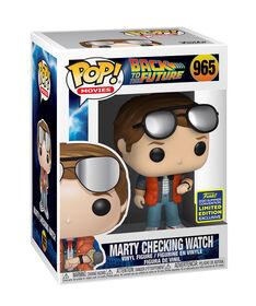 Figurine en Vinyle Montre de Contrôle Marty par Funko POP! BTTF (Convention D'été Exclusive) - R Exclusif