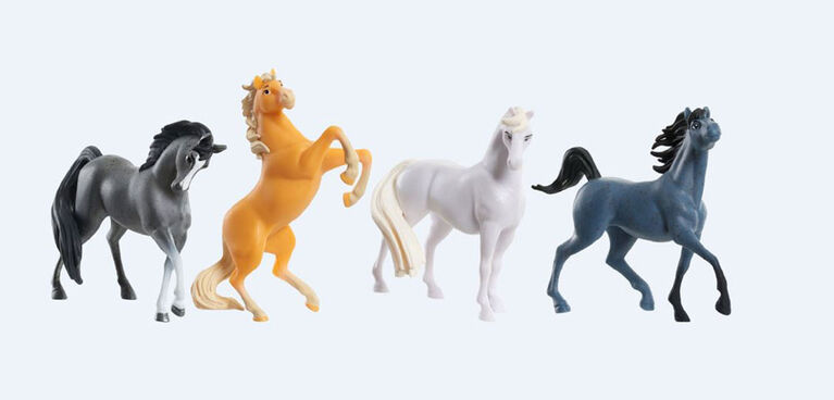 DreamWorks Spirit Riding Free Collectible Horse 4-Pack