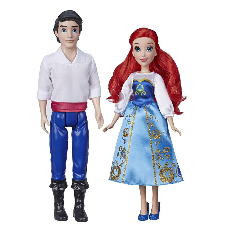 Disney Princess - poupées Ariel et Prince Eric, inspirées de La petite sirène