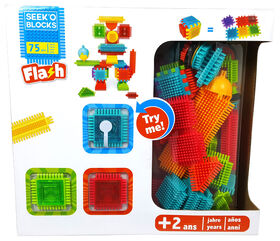 Seek'o Blocks - Flash 3 Lights - 75 pieces