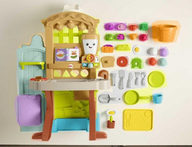 Fisher-Price Laugh & Learn Grow-the-Fun Garden to Kitchen - English Edition