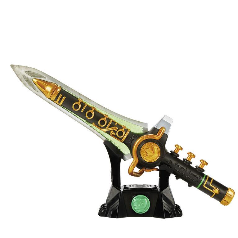 Power Rangers Lightning Collection - Dague Dragon Mighty Morphin verte - Notre exclusivité