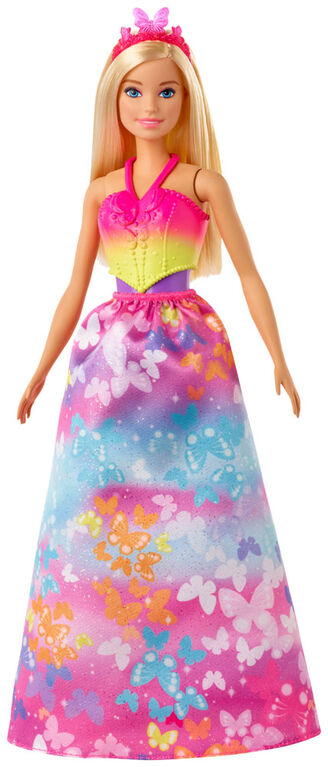 Barbie Dreamtopia Dress Up Doll Gift Set, Blonde with Princess, Fairy and Mermaid Costumes