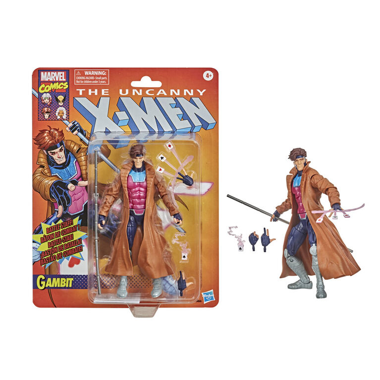 Marvel Legends Gambit  X-Men Action Figure Toy Vintage Collection - R Exclusive