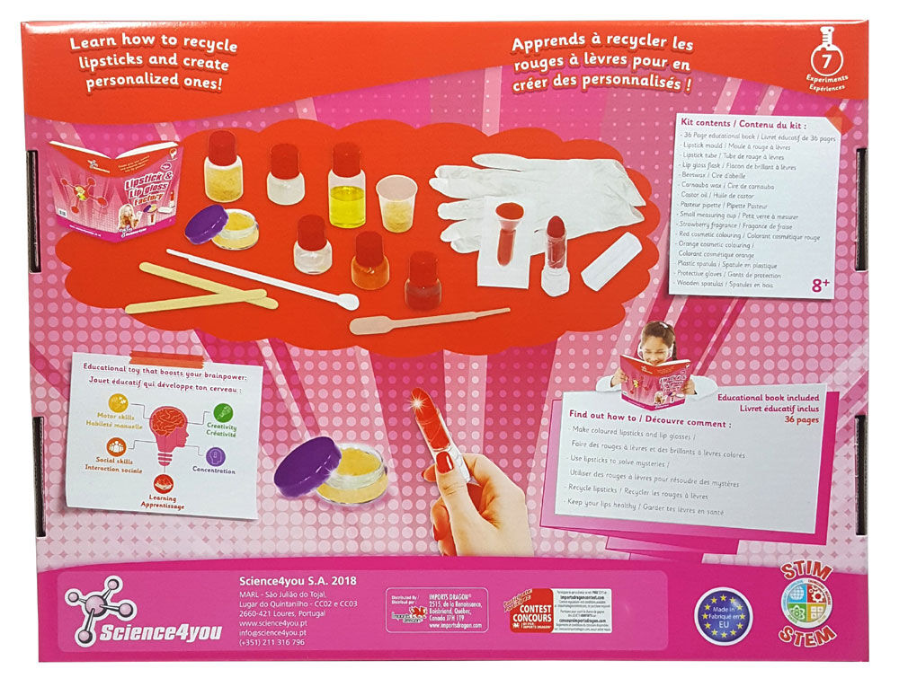 Science4You Lipstick /& Lip Gloss Factory
