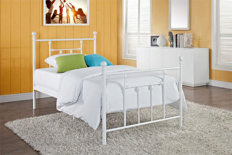 DHP - Manila Twin Metal Bed, White