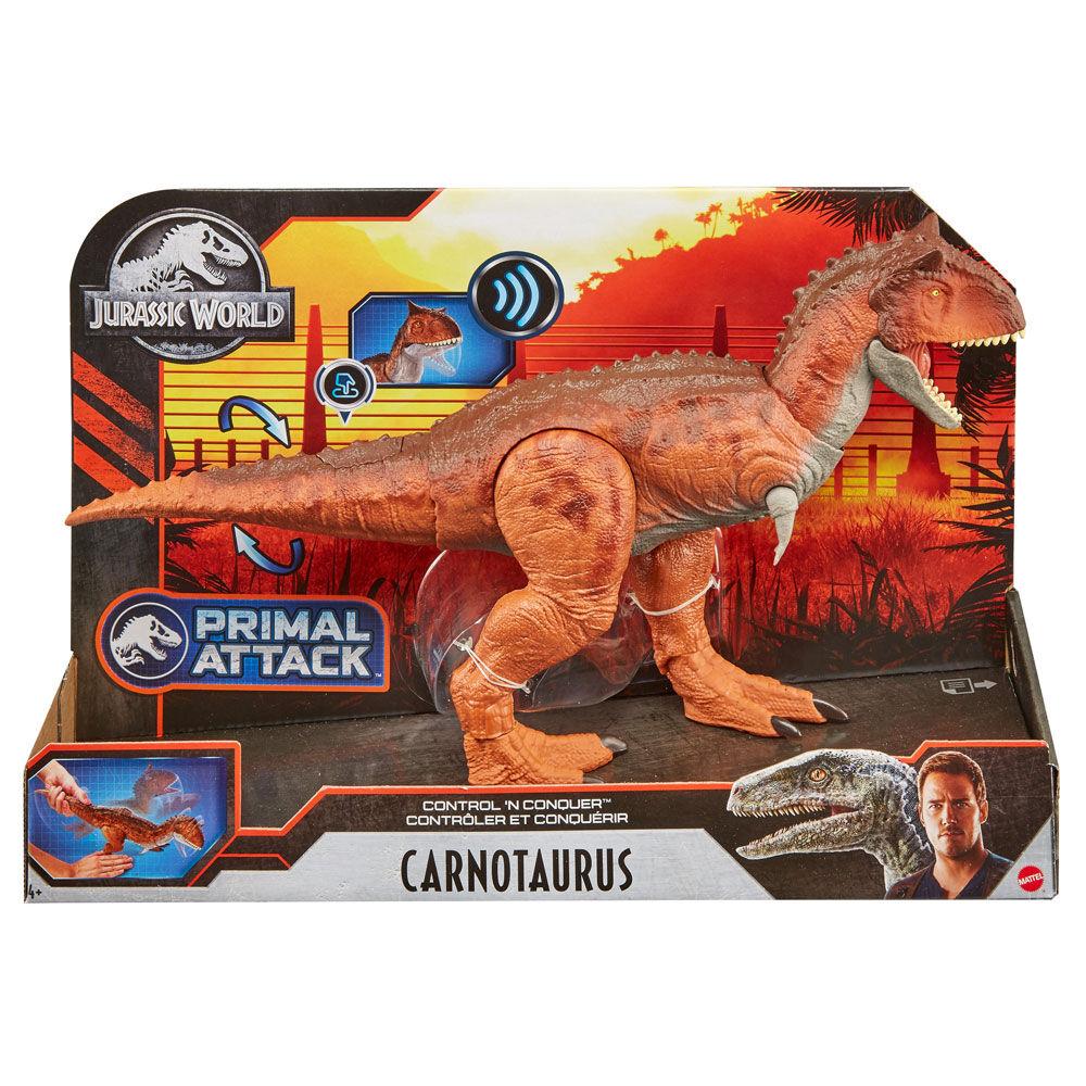 Jurassic World Primal attaque contrôle /'N conquérir Carnotaurus-Kids dinosaure jouet
