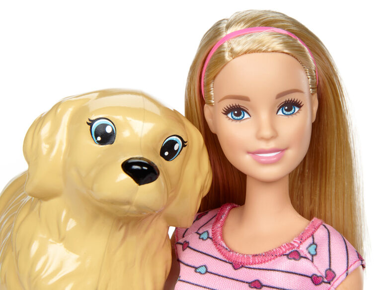Barbie Newborn Puppy Playset