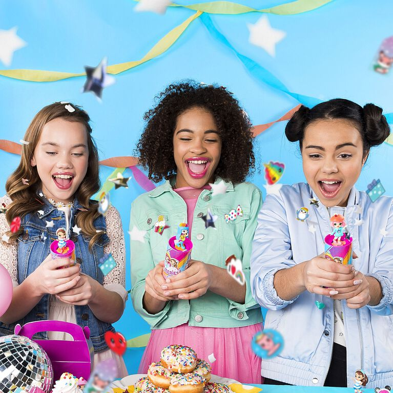 Party Popteenies - Surprise Popper with Confetti, Collectible Mini Doll and Accessories (Styles May Vary)