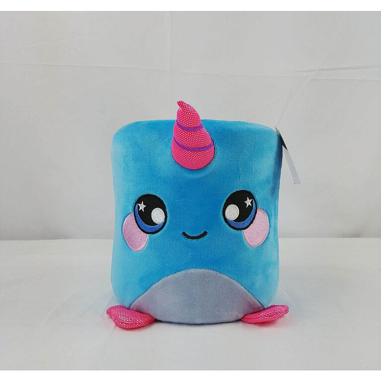 """Squeezamals - Marshmallow 8"""" - Narwhal"""