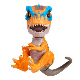 T-Rex sauvage par Fingerlings - Scratch (Orange) - Dinosaure interactif à collectionner - par WowWee.