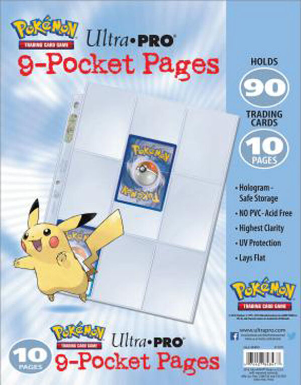 Pokémon Embossed 9 Pocket Pages