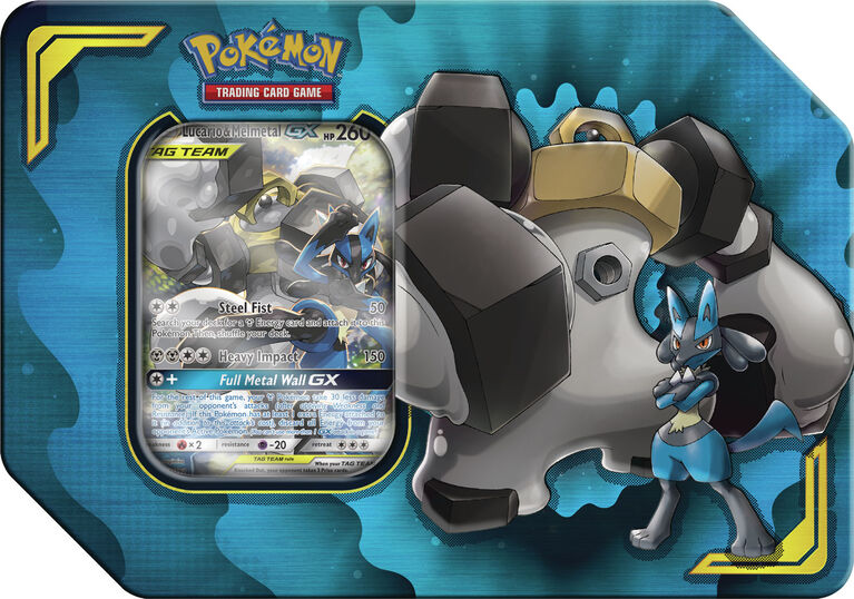 Pokemon TCG: Power Partnership Tin-Lucario & Melmetal-GX