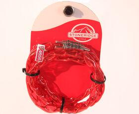 Stoneridge Cycle Combination Lock - Red