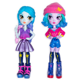 Off The Hook Style BFFs, Naia & Mila (Concert), 4-inch Small Dolls with Mix and Match Fashions and Accessories - R Exclusive