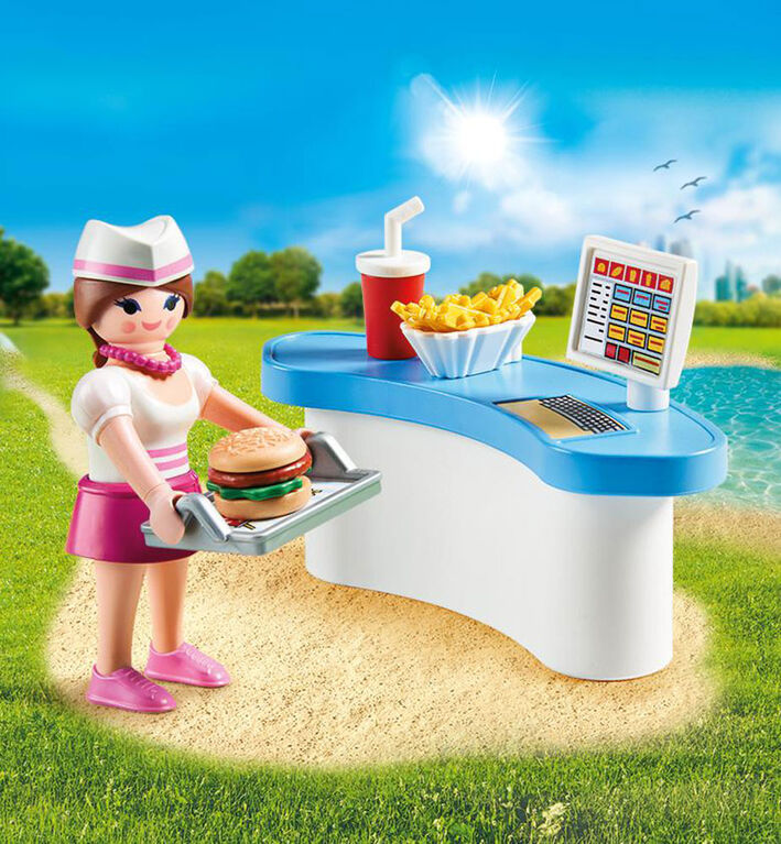 Playmobil Diner waitress with counter 70084