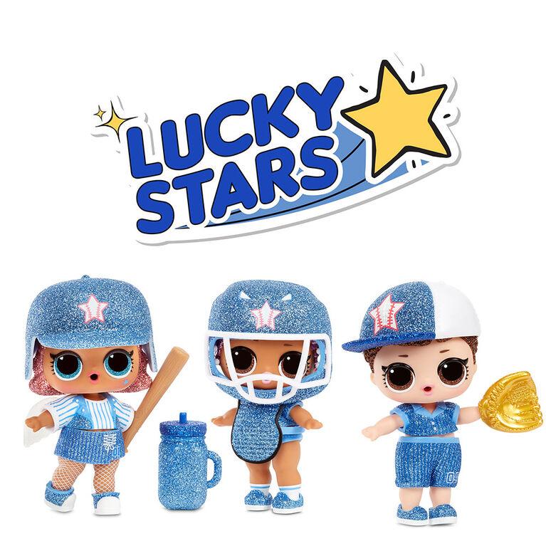 Poupées scintillantes de base-ball L.O.L. Surprise All-Star B.B.s série 1 sport avec 8 Surprises
