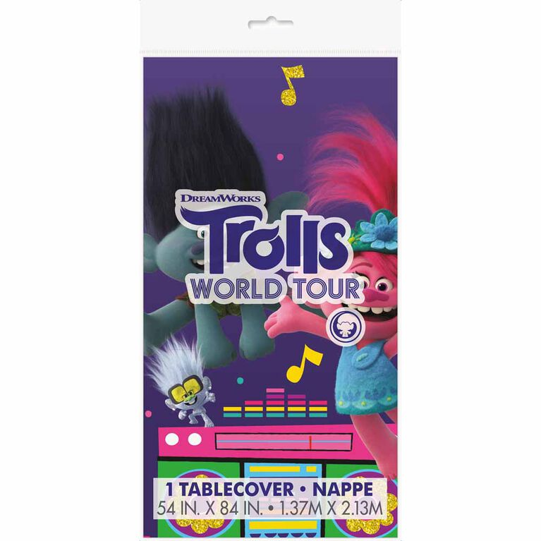 "Trolls Nappe en Plastique 54"" x 84"""