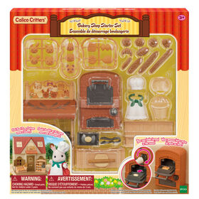 Calico Critters Bakery Shop Starter Set, Dollhouse Playset with Furniture and Accessories