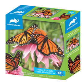 Animal Planet: Monarch Butterfly – 63 Piece 3D Puzzle