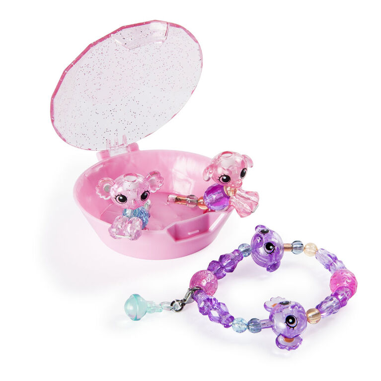 Twisty Petz, Series 2 Babies 4-Pack, Koalas and Puppies Collectible Bracelet and Case (Pink)
