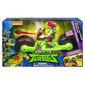 Rise of the Teenage Mutant Ninja Turtles – Shell Hog Motorcycle Vehicle with Raphael Action Figure