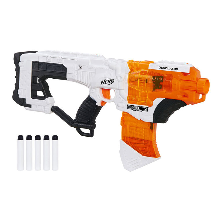 Desolator Nerf Doomlands Toy Blaster with 10-Dart Clip - R Exclusive