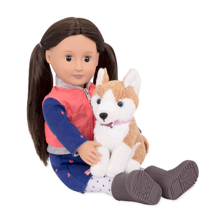 Our Generation, Leslie, 18-inch Doll & Pet Set